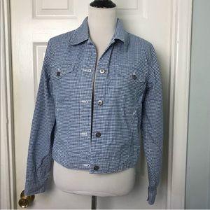 Liz Claiborne Lizwear Gingham Jean jacket. Size M